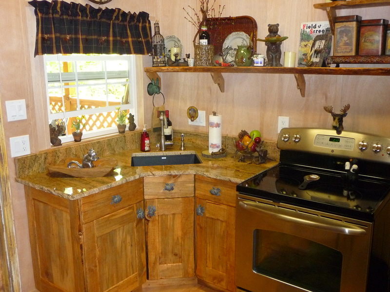 Burrows Cabinetry Plus -- Rustic Pine Kitchenette